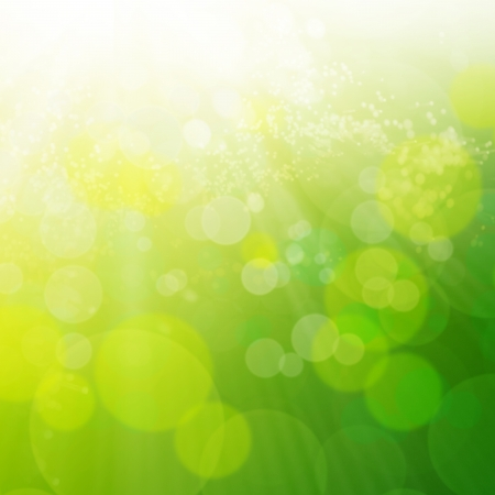 de focus: Spring or summer abstract background with bokeh lights   Stock Photo