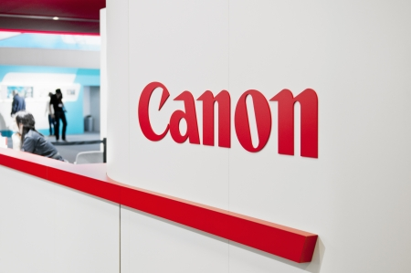 Cologne, Germany - September 21, 2013  Canon exhibition stand at Photokina - World of Imaging in Cologne, Germany   The Photokina is the worlds largest trade fair for the photographic and imaging industries  Stock Photo - 19074945