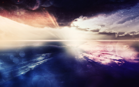 nebulous: Digital created fantasy scene. Stock Photo