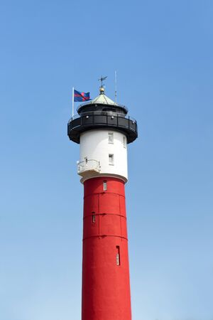 german north sea region: Old red classic lighthouse in Wangerooge, Germany, Northsea Stock Photo