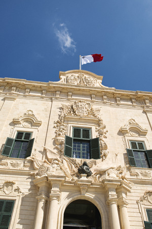 proportionate: The lovely proportionate Auberge de Castille is a baroque palace in Valletta,  currently the offices of the Prime Minister of Malta.