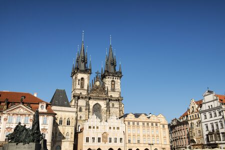 old town square: Church of Our Lady before Tyn, from Old Town Square, Prague, Czech Republic