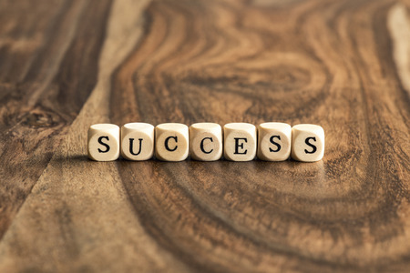 wood blocks: SUCCESS word background on wood blocks