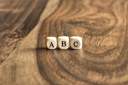 abc blocks: ABC building blocks on wooden background