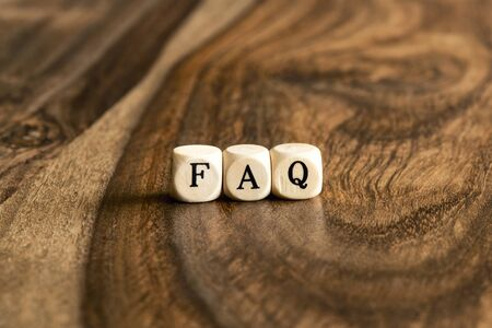 wood blocks: FAQ word background on wood blocks