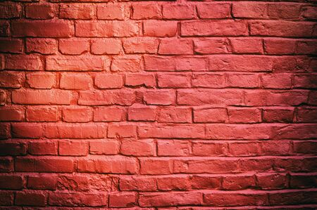 painted: Stone texture - brick wall painted with red color.