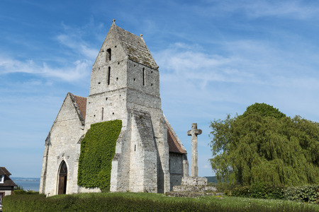 The medieval church, l Eglise St. Martin de Cricqueboeuf, Calvados, Normandy, France