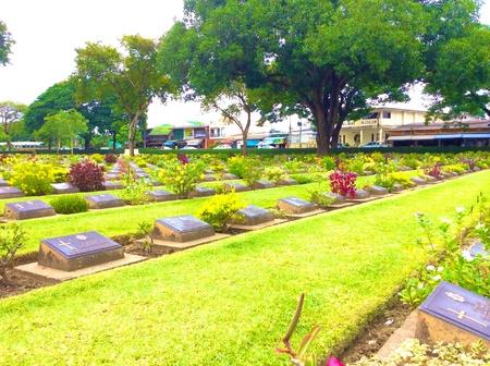 worl: Kanchanaburi war cemetery, Memorial for world war 2.