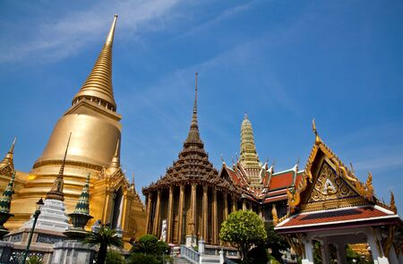 Wat Pra Kaeo Golden Pagoda Bangkok Thailand photo