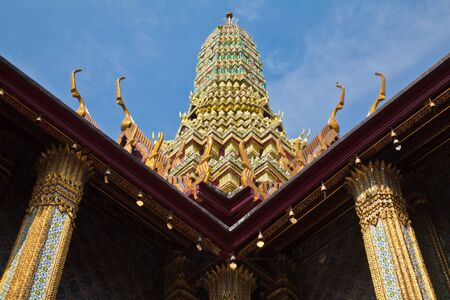 Pagoda in Wat Phra Kaew,Bangkok Thailand photo