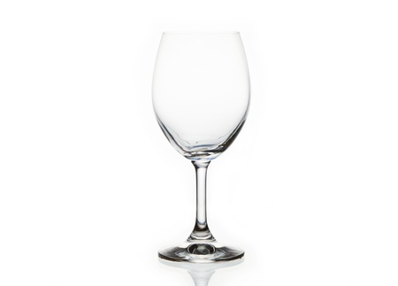 wineglasses: Empty Wine Glass Isolated On White