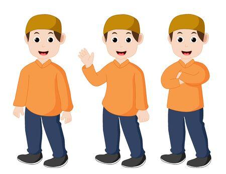 Muslim kids Illustration
