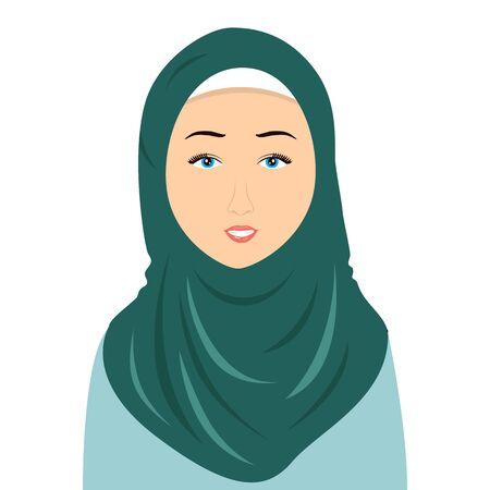 Hijab woman Vektorové ilustrace