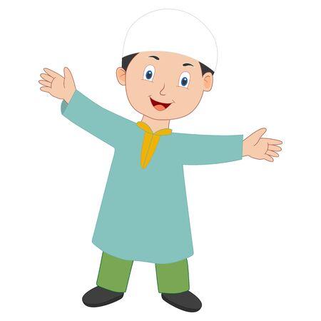 muslim boy vector