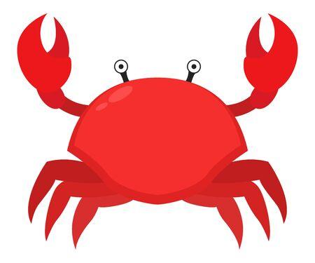 Vector of crab flat design