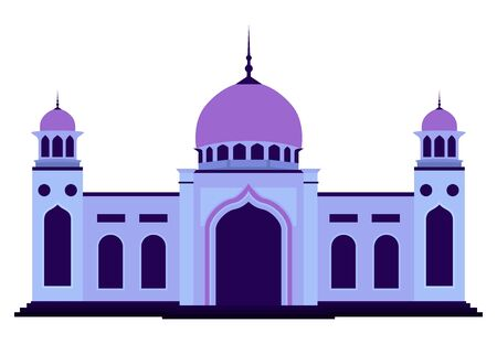 Vector of islamic mosque flat design style