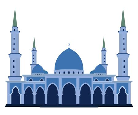 Vector of islamic mosque flat design style Vector Illustration