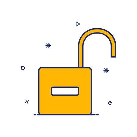 modern open style padlock vector icon