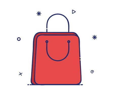 Vector icon of a modern style shopping bag