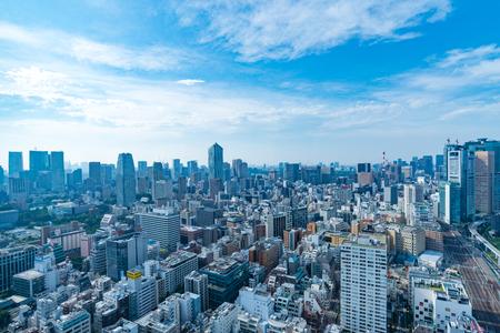 Architektur Gebäude Stadtbild in Tokyo Skyline bei Japan