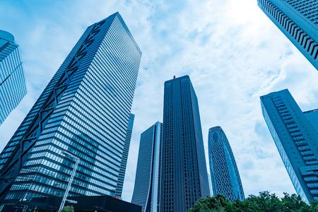High-rise buildings and blue sky-Shinjuku, Tokyo, Japan Stock Photo