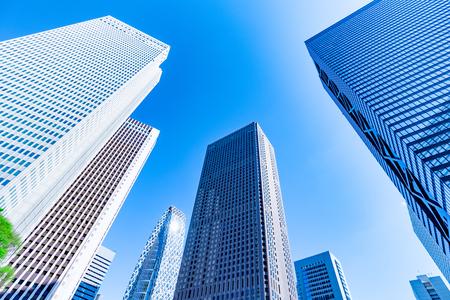 High-rise buildings and blue Skyo-Shinjuku, Tokyo, Japan