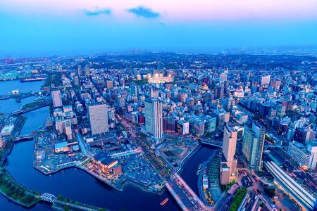 Sunset View of Minato Mirai area of Yokohama