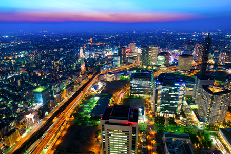 Night view of Yokohama City