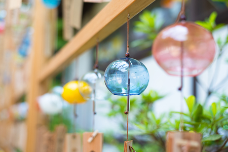 Japanese wind chimes  Summer feature of Japan Stock Photo - 81856841