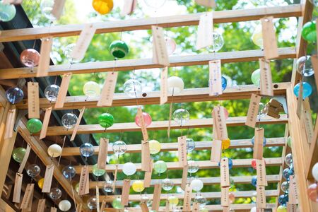 feature: Japanese wind chimes  Summer feature of Japan Stock Photo