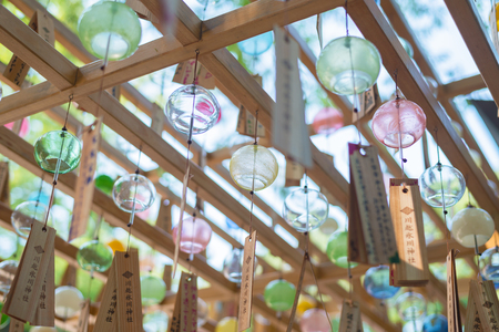 Japanese wind chimes  Summer feature of Japan Stock Photo - 81932404