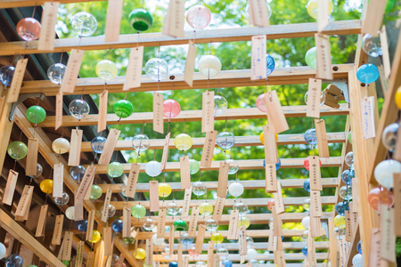 Japanese wind chimes  Summer feature of Japan Stock Photo - 81932403
