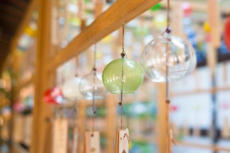 Japanese wind chimes  Summer feature of Japan Stock Photo