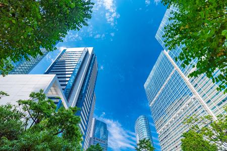 東京のグリーン ビジネス エリアを更新 写真素材