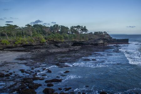 Sea landscape at balinese temple Tanah Lot Stock Photo