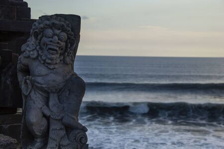 Sea landscape from balinese temple Made in Bali, Indonesia  Stock Photo