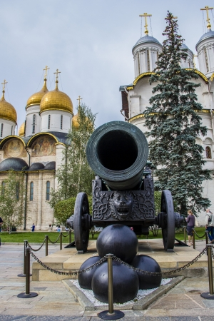 Tzar cannon in Kremlin  Made in Moscow, Russia  photo
