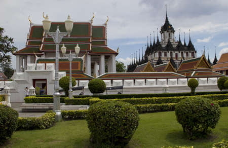 Landscape with some temples  Made in Bangkok, Thailsnd  Stock Photo