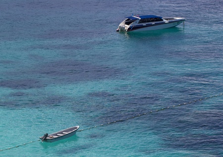 Two boats on turquoise water near Similan Islands  Thailand  Stock Photo - 17069641