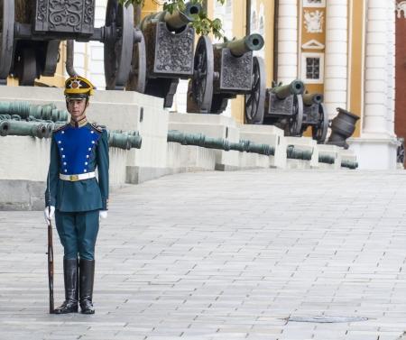 Soldier of Kremlin regiment on service