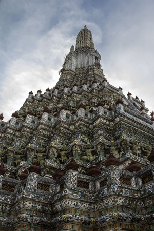 View on the temple Wat Arun from the bottom  Bangkok, Thailand  photo