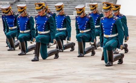 regiment: Soldiers of Kremlin regiment in Kremlin, Moscow, Russia