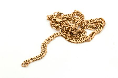 Gold chain isolated on a white background Stock Photo - 17168930