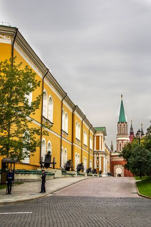 A road inside Kremlin through the Aroury Chamber Stock Photo