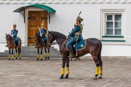 Soldier of Kremlin regiment on horseback  Moscow, Russia