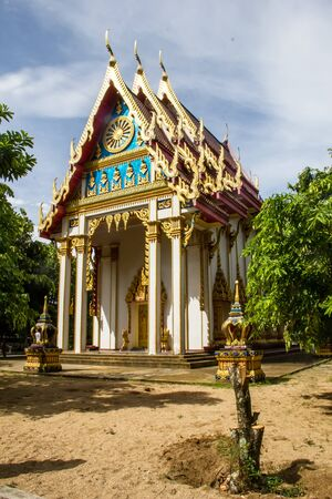 Traditional buddhist temple on the south of Thailand  photo