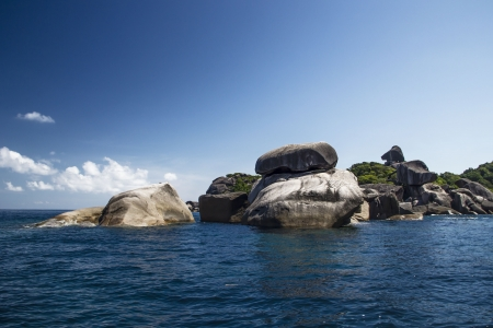 thailand s landmarks: Lonely rock island in the middle of the sea