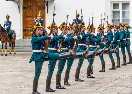 regiment: Soldiers of Kremlin regiment in Kremlin, Moscow, Russia.