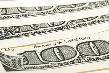 100 dollar bills sign 100 - macro shooting. photo