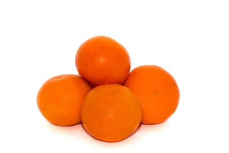 Tangerines isolated on a white background Stock Photo